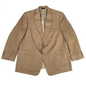 Burberry London   Novacheck Tan 2 Button Blazer 52